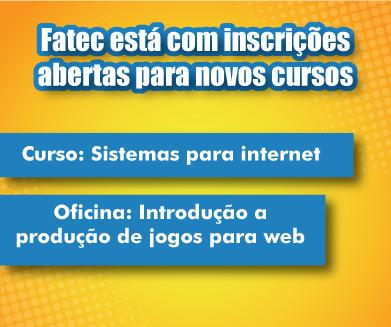 Fatec está com inscrições abertas para novos cursos